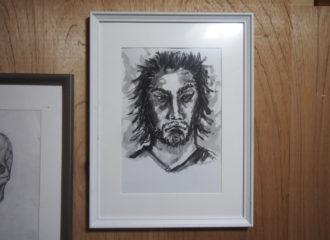 昔の人の顔 イラストレーション