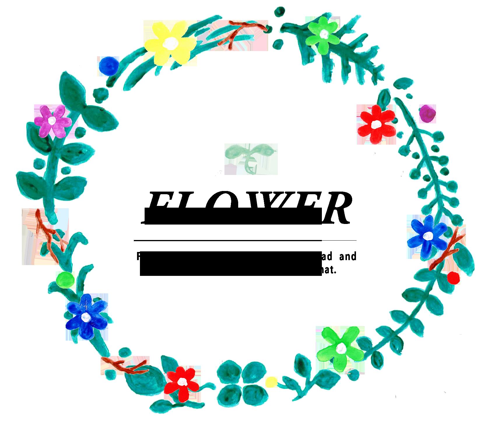 花冠イラスト