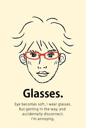 眼鏡をかけています