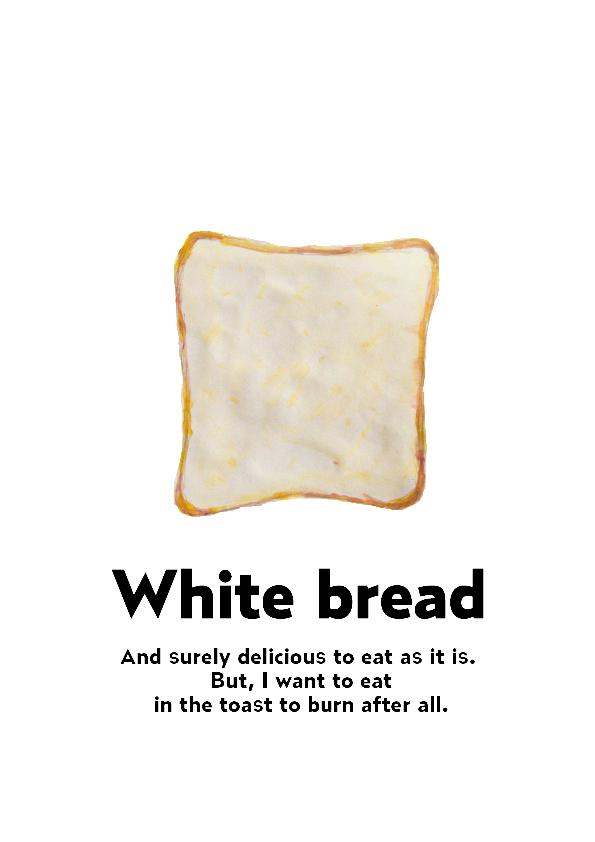 食パンの水彩イラスト