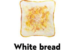 White Bread トーストの水彩イラスト