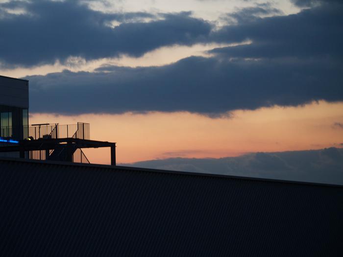 神戸空港の展望台から