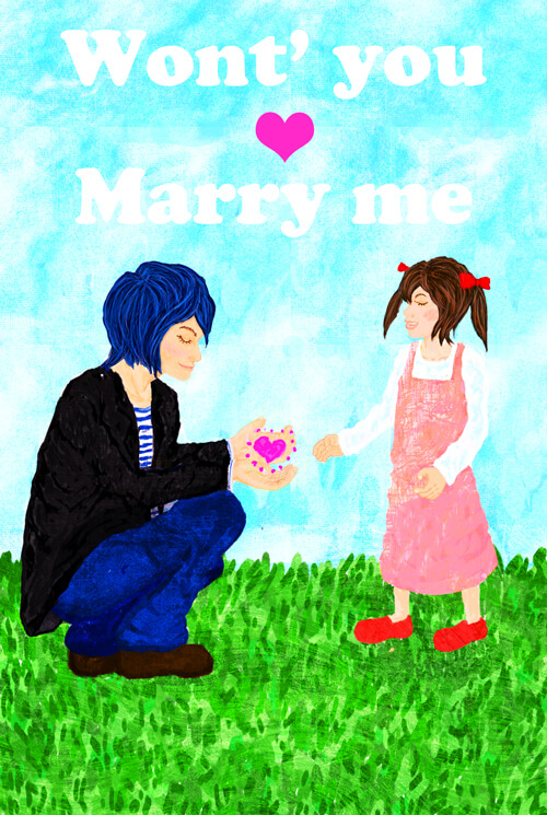 won't you marry me イラストレーション