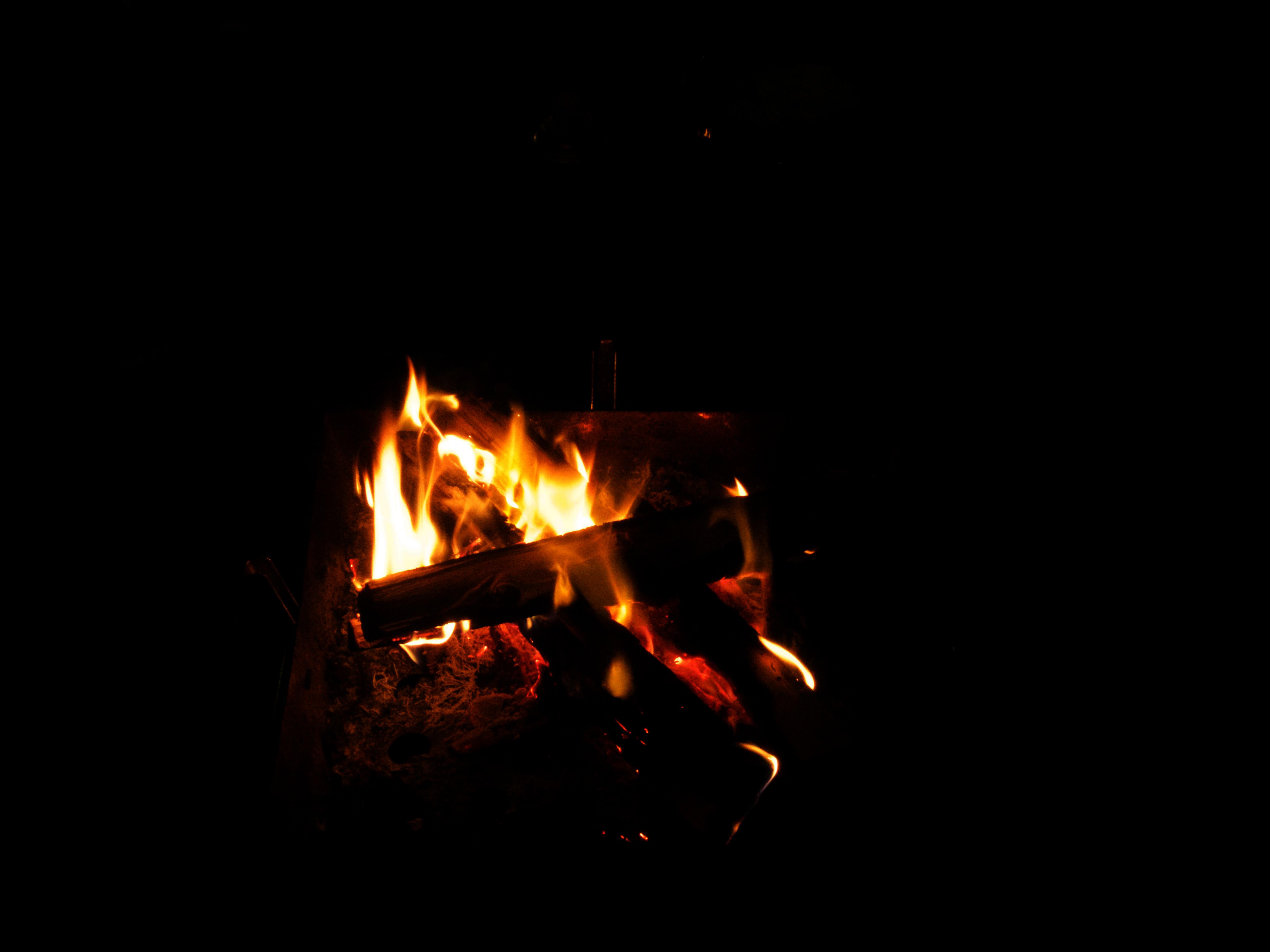 焚き火の写真