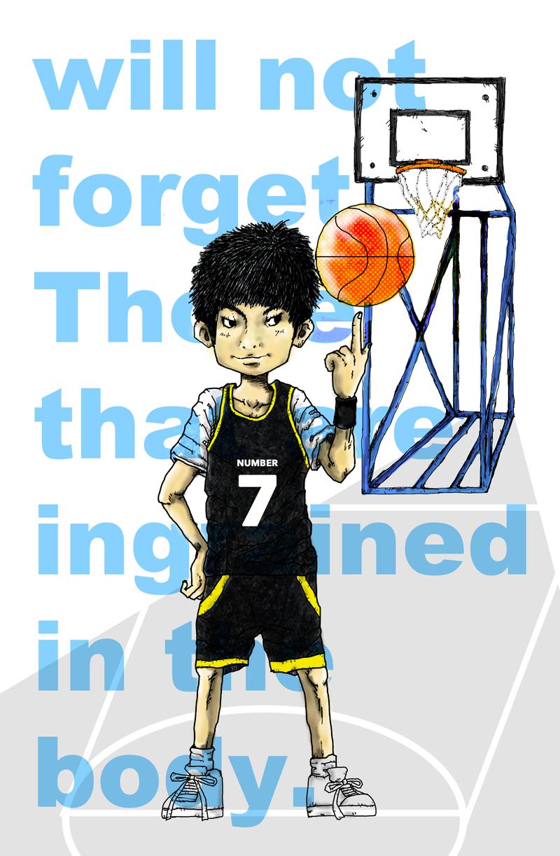 「バスケットボール」イラストレーション