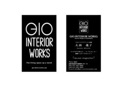 GIO INTERIOR WORKS 名刺デザイン