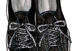 スニーカーのイラストレーション