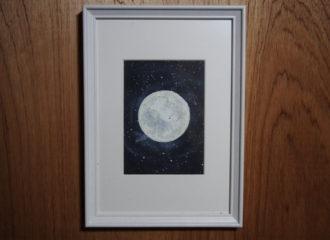 月のイラストレーション