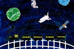 夜空のイラストレーション