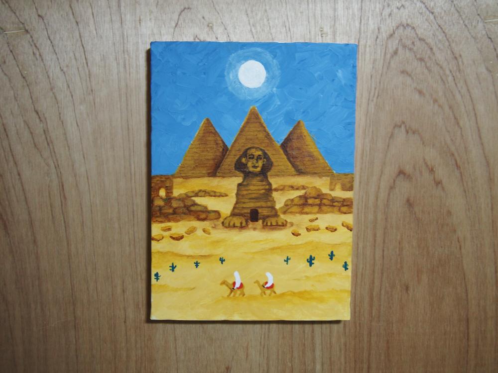 エジプトに行ってみたい イラストレーション