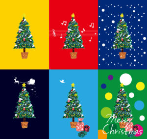 クリスマスツリー イラストレーション
