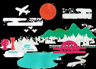 神戸のイラストレーション