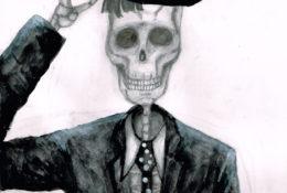 スケルトンマン イラストレーション