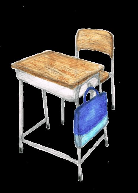 小学校 学習机 イラストレーション