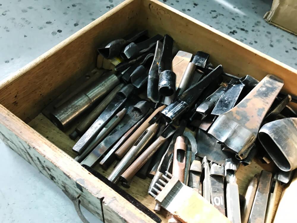 靴職人の道具箱