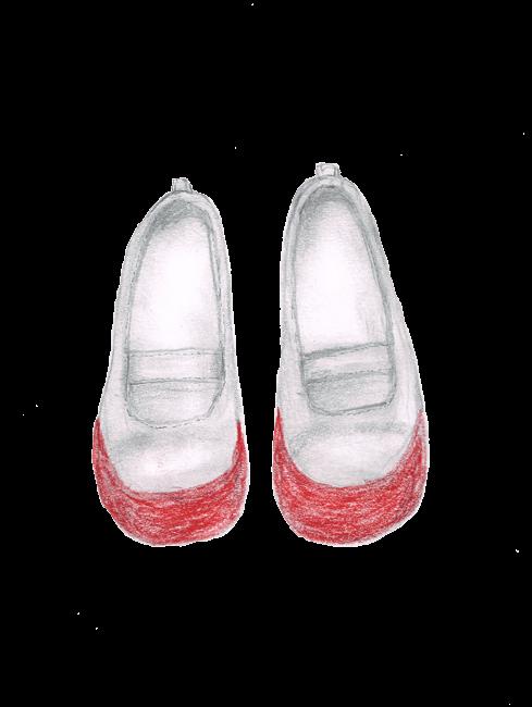 上靴 女の子用 イラストレーション