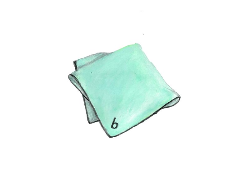 ハンカチのイラストレーション