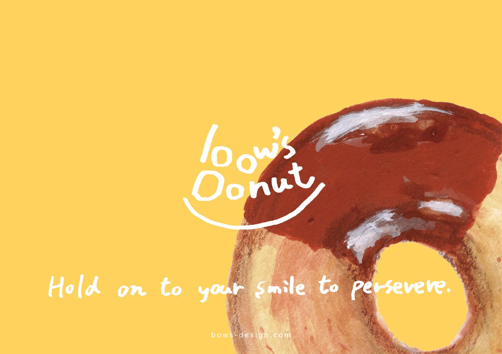 bow's Donut ポスター デザイン
