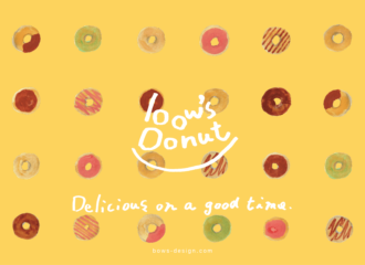 bow's Donut ビジュアルデザイン