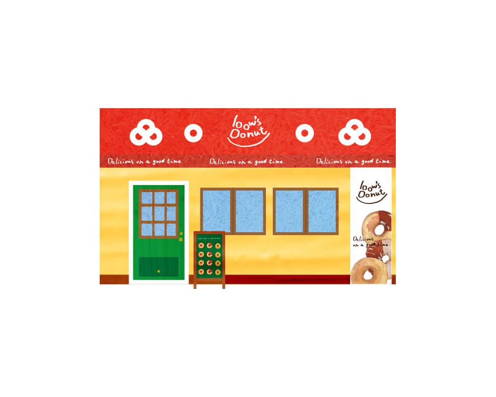bow's Donut ファサード