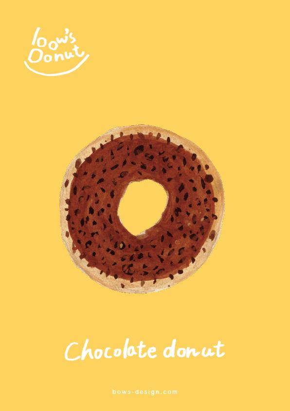 チョコレートドーナツ イラストレーション