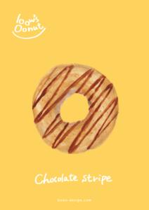チョコストライプ イラストレーション