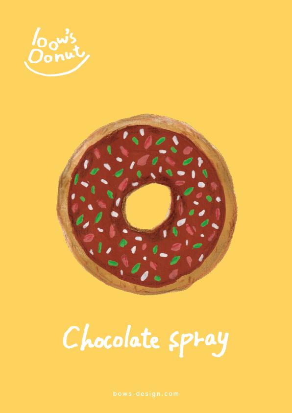 チョコスプレー イラストレーション