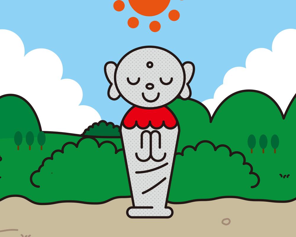 お地蔵さんのイラストレーション