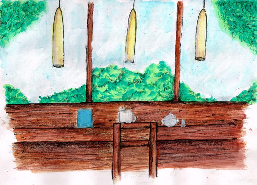カフェのイラストレーション
