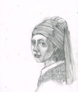 真珠の耳飾りの少女 イラストレーション