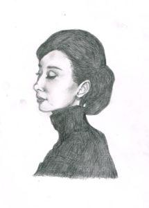 オードリーヘップバーン イラストレーション