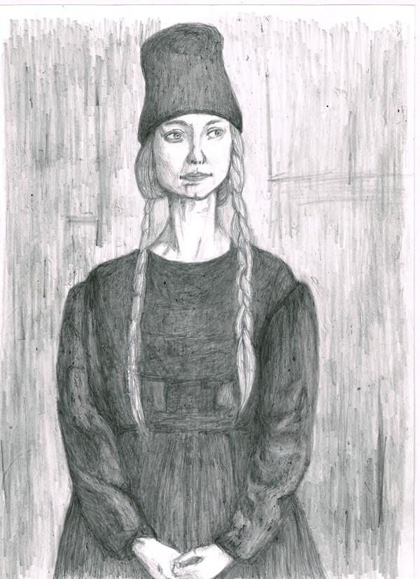 黒の女性 イラストレーション