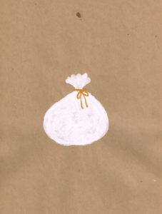 サンタ袋 イラストレーション
