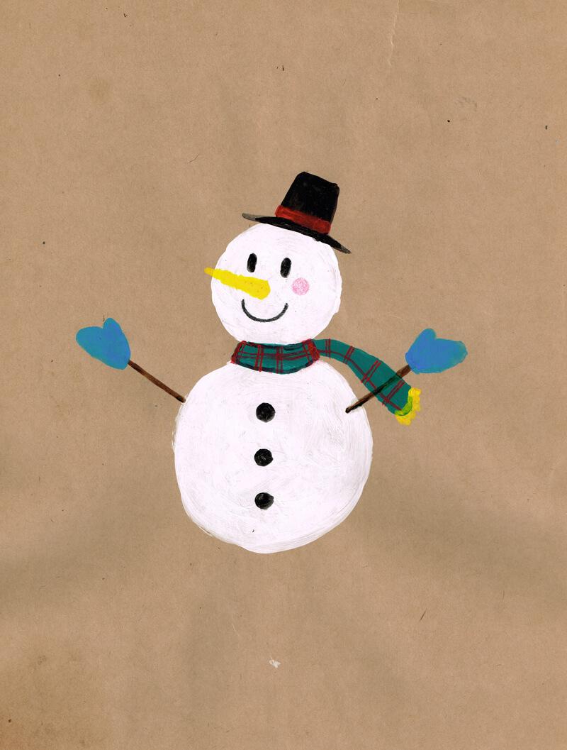 雪だるま イラストレーション