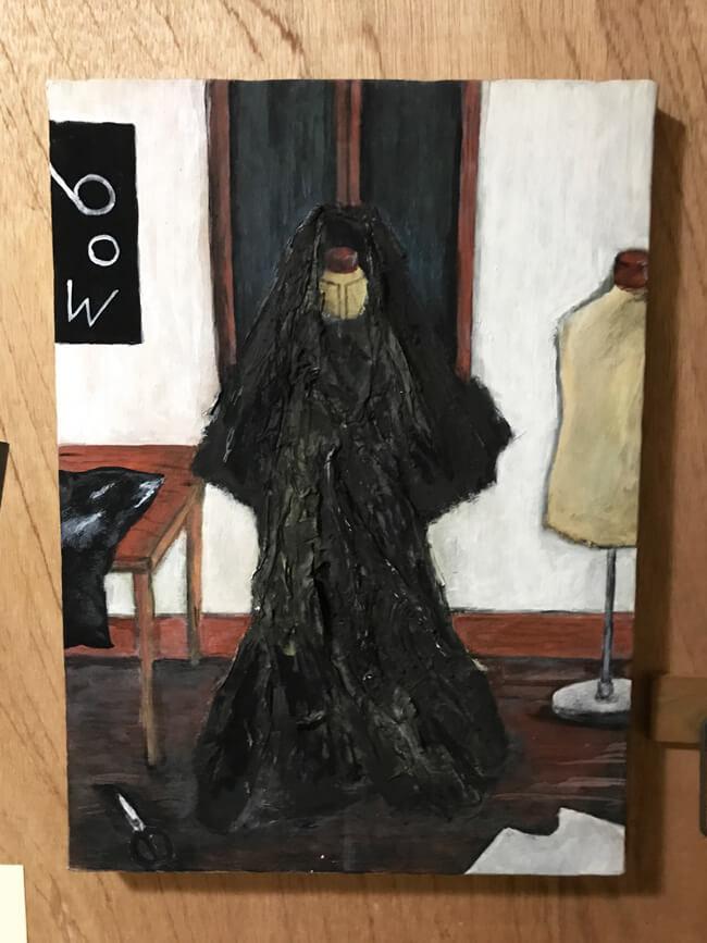 服づくりの部屋 イラストレーション