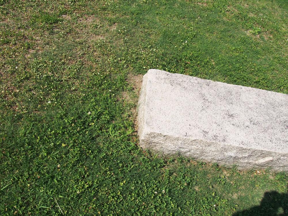 切削された石の写真