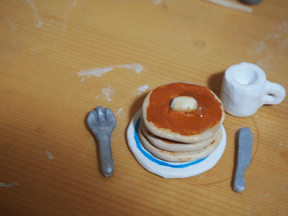 パンケーキ 紙粘土 クラフト