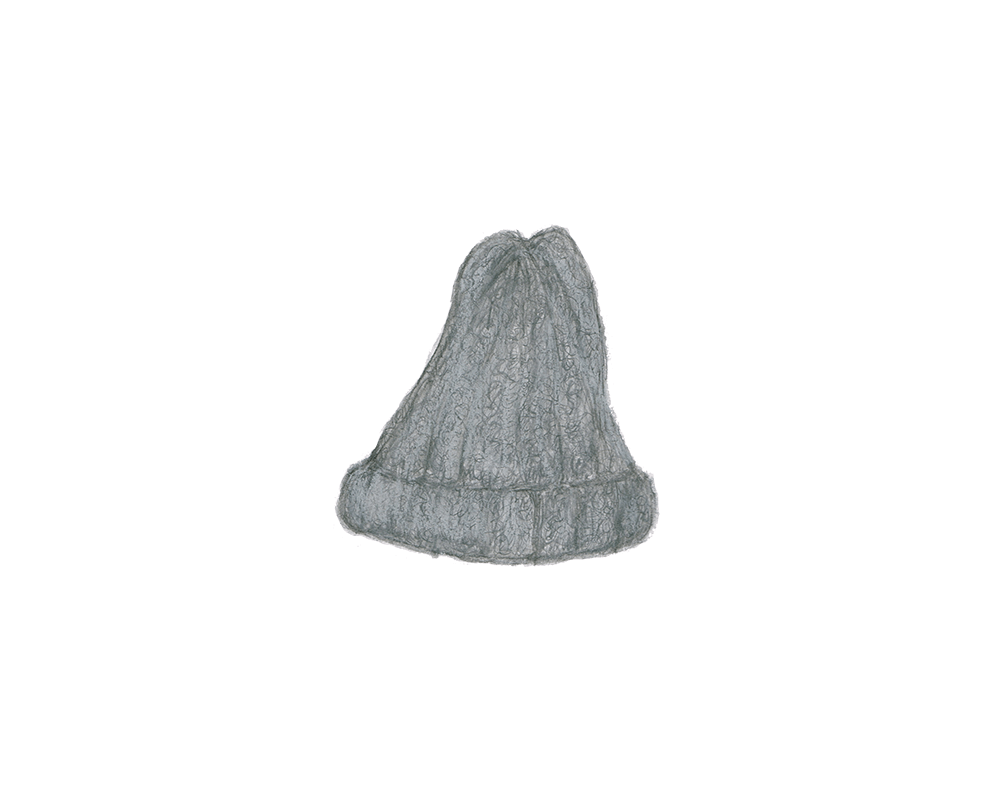 ニット帽のイラストレーション