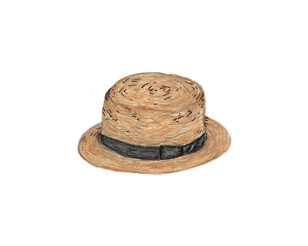 麦わら帽子 イラストレーション