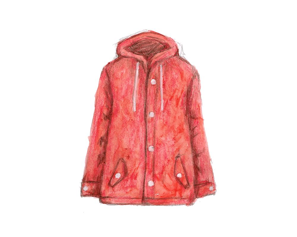 赤色のブルゾン イラストレーション