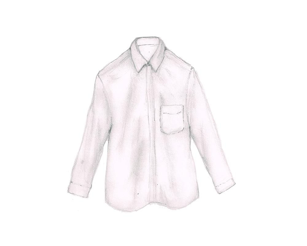 白シャツ イラストレーション