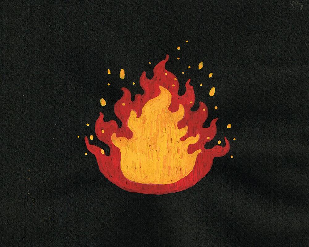 炎のイラストレーション