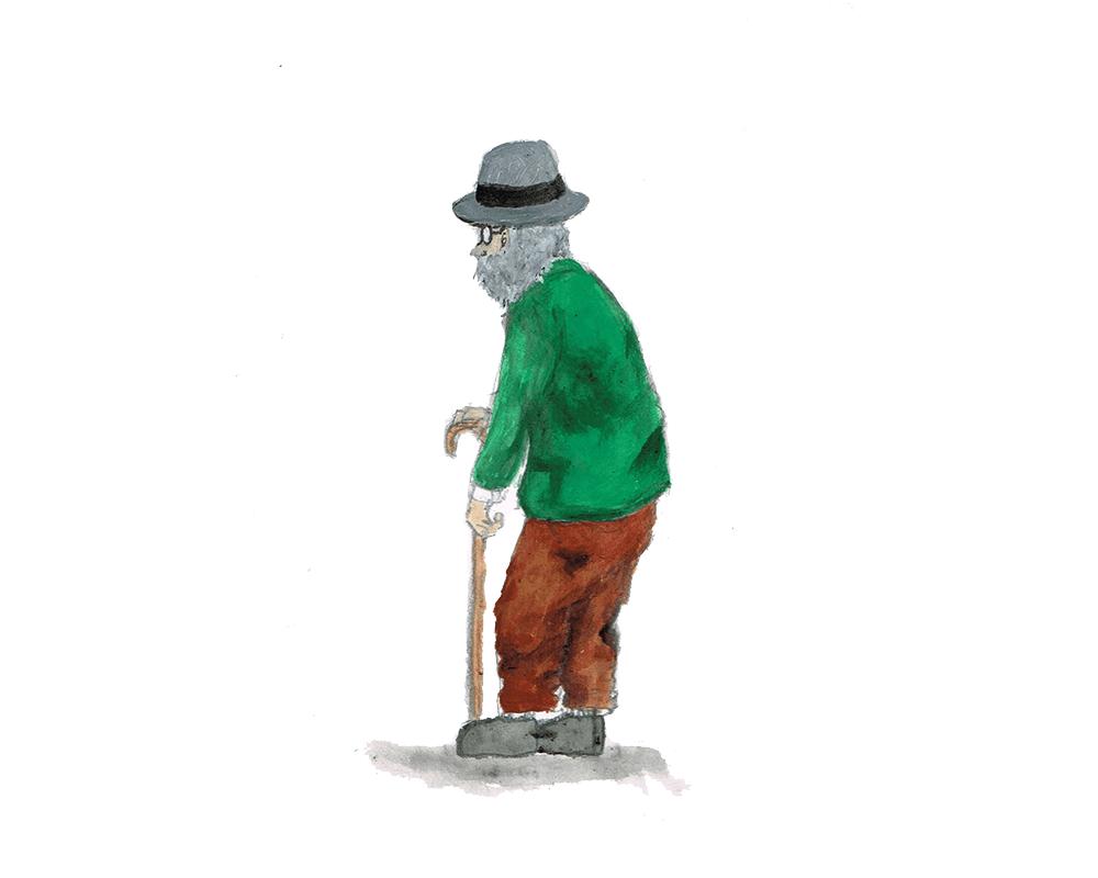 ハットのおじいさん