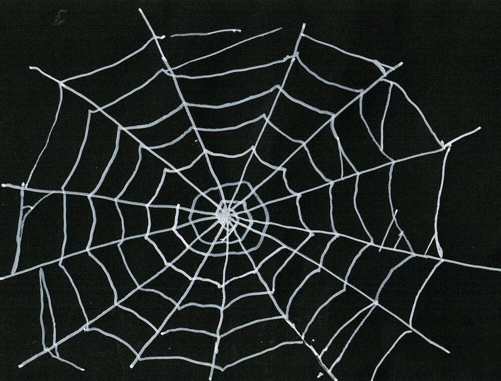 蜘蛛の巣 イラストレーション
