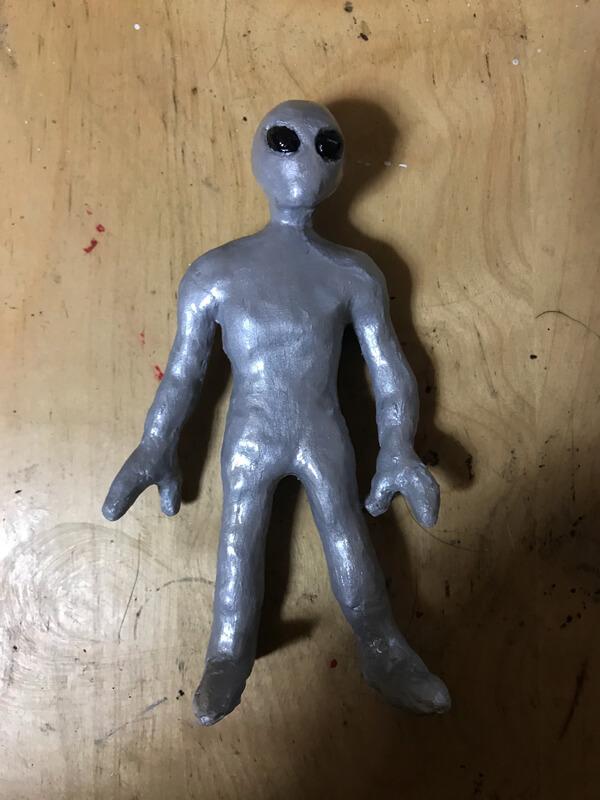 紙粘土クラフト 宇宙人