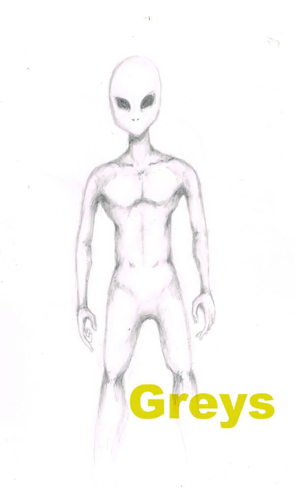 宇宙人 イラストレーション
