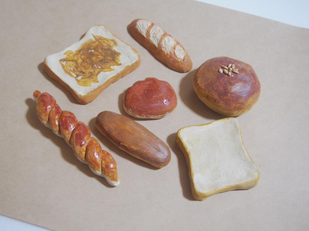 粘土細工 パン