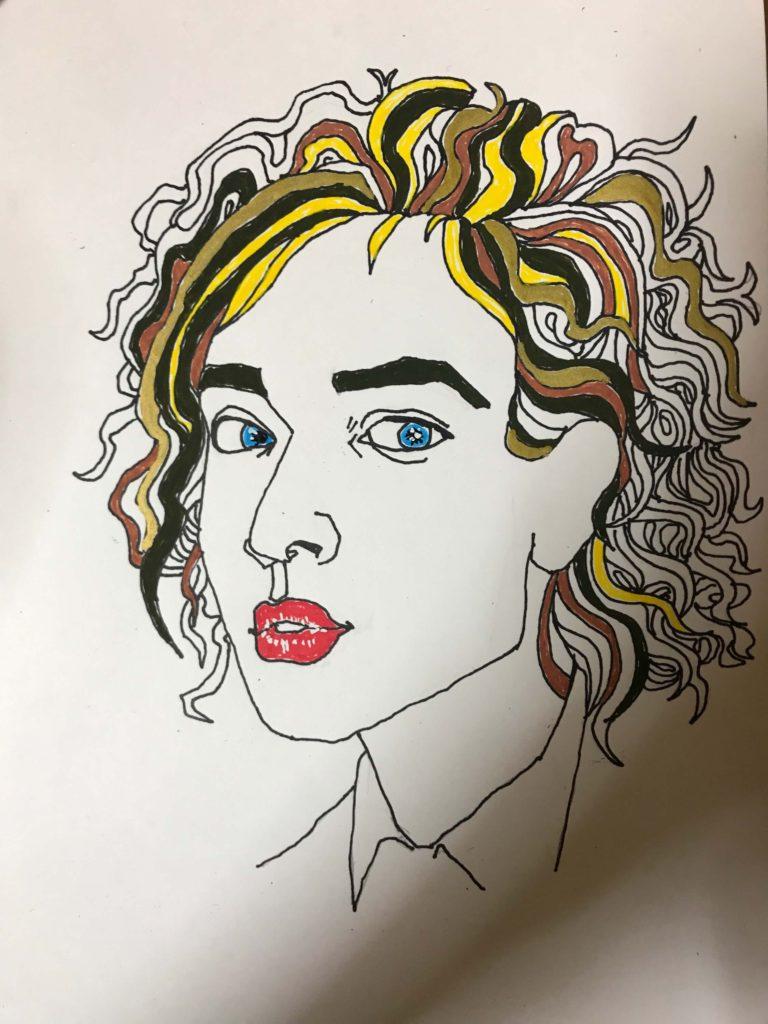 女性 イラストレーション