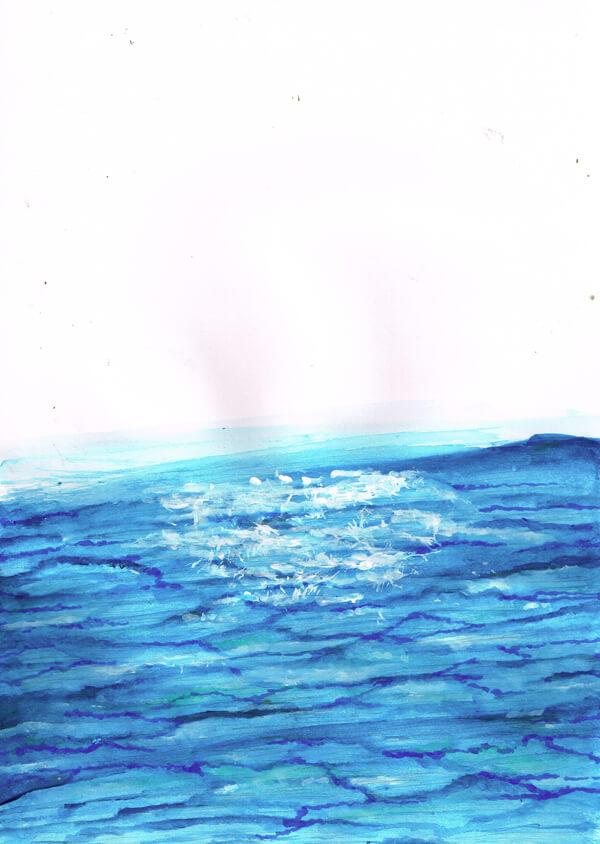 水面 イラストレーション