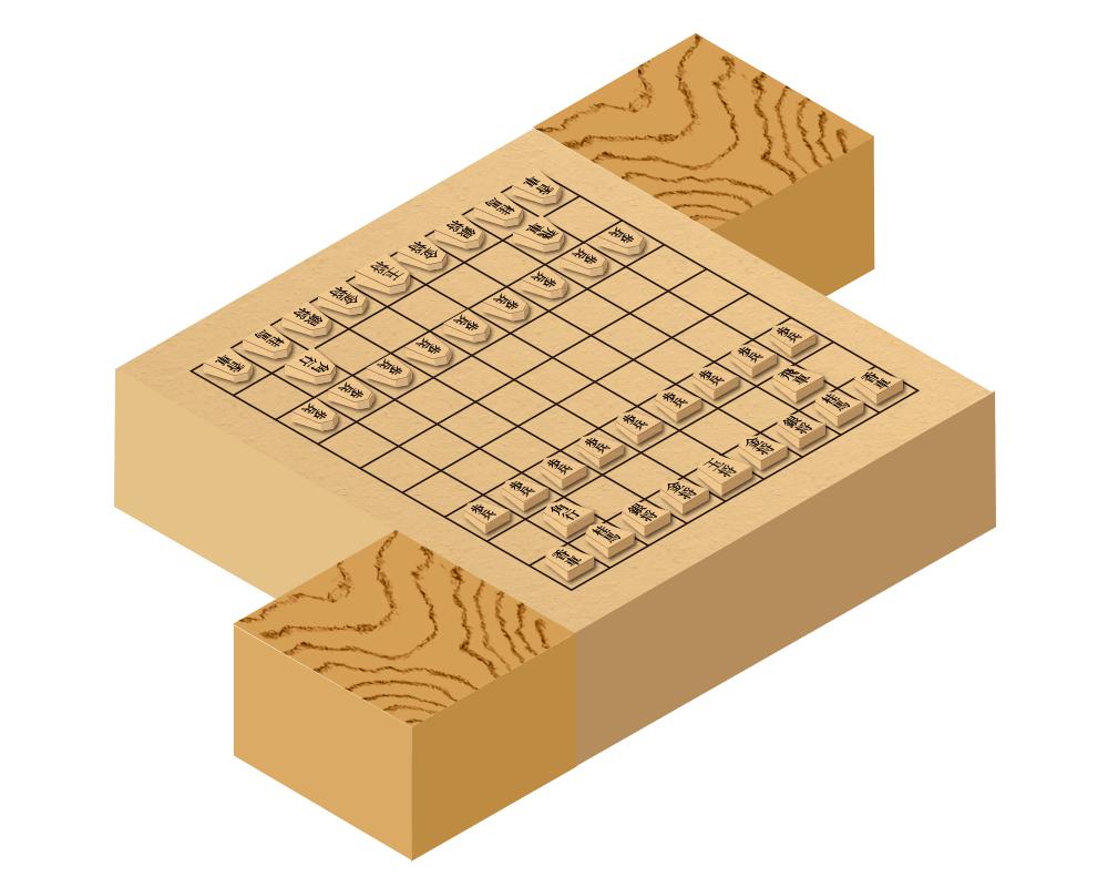 将棋 立体 イラストレーション